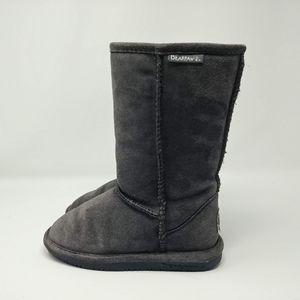 BEARPAW Girls Emma Tall Boot Shoes Charcoal